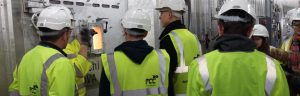 BTEC students from Aylesbury College visiting the grate