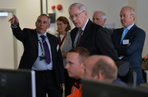 HRH Duke of Gloucester visiting the control room