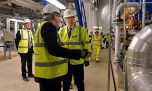 HRH Duke of Gloucester visiting the turbine hall
