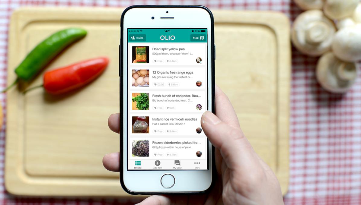 Olio App on smartphone