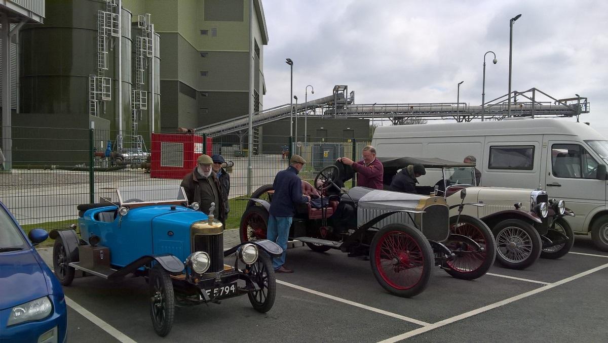 Vintage car owners visiting Greatmoor