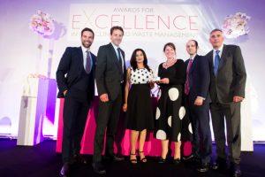 The Greatmoor team receiving their award