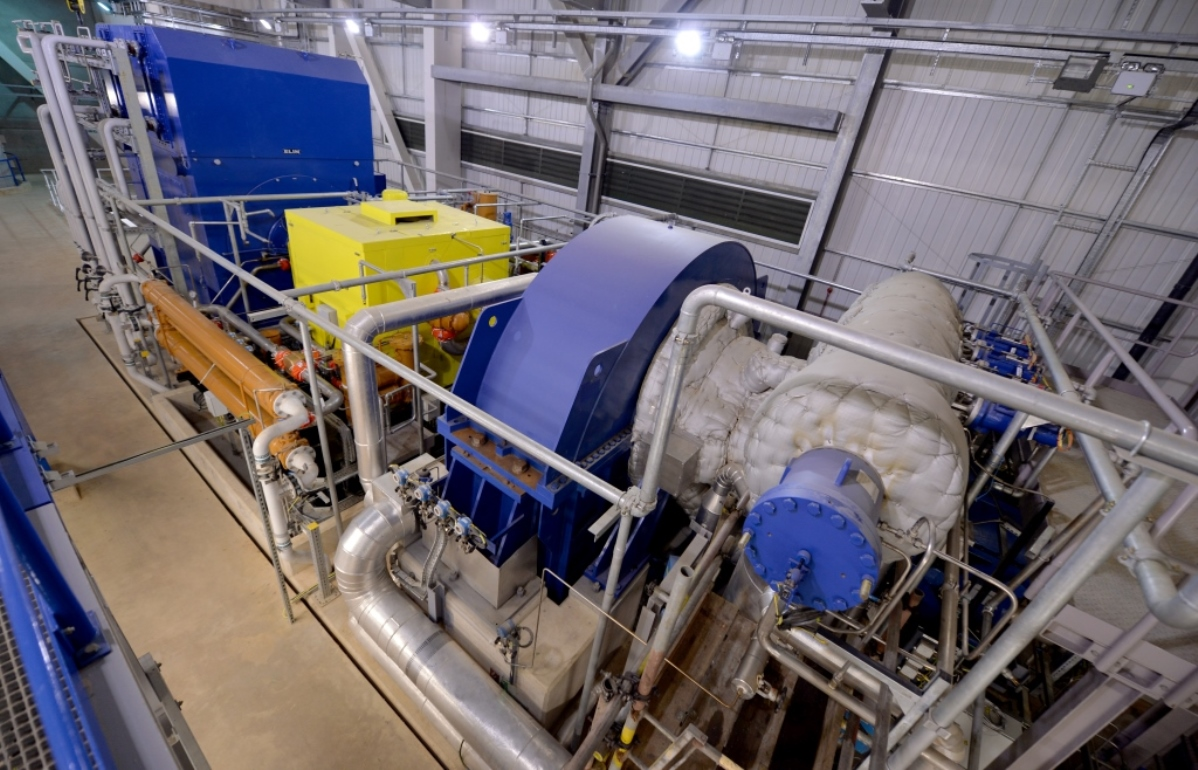 The turbine and generator